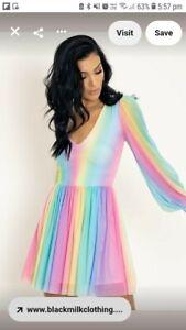 Black Milk Clothing Rainbow Ice Cream Romance Twirl Dress Medium BNWT