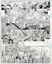 Scot EATON- Mike BARREIRO Original Art doble Página ESCARABAJO