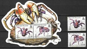 Pitcairn 2009 Fauna Wildlife Marinelife Fisch Fish Crab compl. set + MS MNH