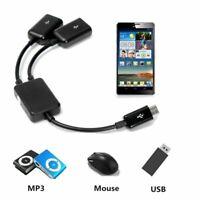 Multi-function Micro USB otg HUB 2-port USB For Tablet and neu PC Phone Sma X0Q8