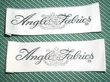 """Vintage Clothing Labels Tags Lot of 2 """"Anglo Fabrics"""" New Old Stock NOS"""