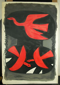 Poster George Pointer Three Birds Beautiful Colours Original Of 1960 95 CM