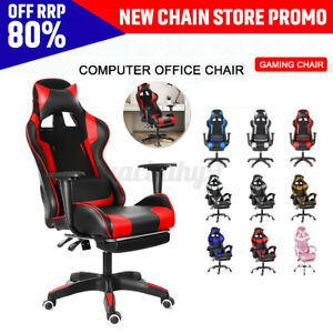 Adjustable Racer Gaming Chair Executive Office Chair Recliner Computer Desk  .