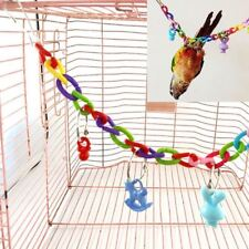 Birds Toys Colorful Chain Parrot Swing Cage For Parakeet Cockatiel Lovebird