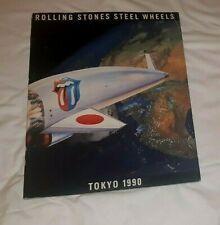 ROLLING STONES 1990 TOKYO CONCERT PROGRAM WITH TICKET NICE !