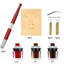Microblading Kit Permanent Makeup Eyebrow Lip Tattoo Practice Kit Microblade Ink