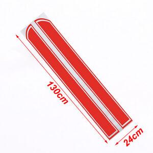 Car Van Racing Body Stripe Pinstripe Hood Side Decals Vinyl Stickers Red