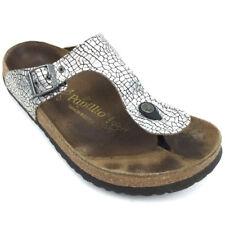 b9236dc0388e Papillio Birkenstock Thong Flip Flops Sandals Slides Animal Print Silver Sz  L11