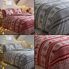 Tony's Textiles - Parure de lit - motif flocons/renne/Noël