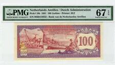 1981 Netherlands Antilles 100 Gulden PMG67 EPQ <P-19b> SUPERB GEM UNC