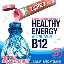 ZipFizz All Natural  Energy Drink Mix PINK GRAPEFRUIT (30 Tubes) FREE SHIP
