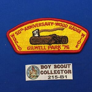 Boy Scout CSP Gilwell Park 1976 50th Wood Badge Council Shoulder Patch