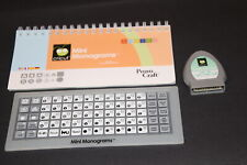 Mini Monograms fonts Cricut Cartridge LINKED with booklet overlay NO BOX