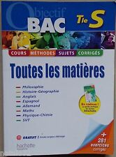 ) OBJECTIF BAC terminale S - toutes les matières - Hachette 2009 baccalauréat