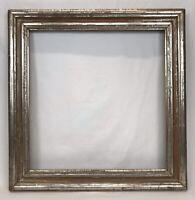 Antique Mid 19th C Silver Lemon Gold Gilt Frame 18 1/4 x 18 3/4 Opening