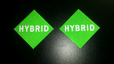 HYBRID CAR VEHICLE REFLECTIVE NUMBER PLATE STICKERS LABELS X 2 LIKE LPG BADGES