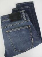 Neuw Iggy Skinny Homme W31/L34 Rigide Extensible Fade Effet Jeans Bleu 24769_