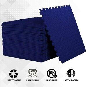 Interlocking NAVY Heavy Duty EVA Foam Gym Flooring Floor Mat Tiles 60X60X1 cm