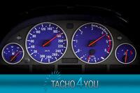 Tachoscheiben für BMW 300 kmh Tacho E39 Diesel M5 Blau 3378 Tachoscheibe km/h X5