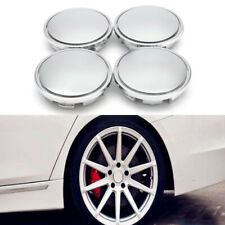 4x Universal Chrome Car Wheel Center Caps Tyre Rim Hub Cap Blank Cover ABS 65mm