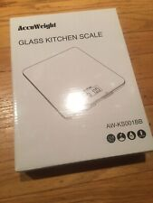 Accuweight Glass Digital Kitchen Weighing Scale AW KS001BB Black