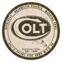 Colt Logo Round Rustic Retro Vintage Tin Sign 12 x 12in