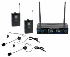 Vocopro Digital-2B 90 Ch UHF Dual Wireless Headset Microphone System/Rechargable