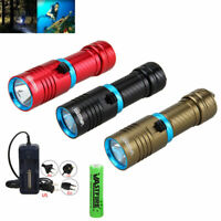 10000LM L2 LED Scuba Dive Rechargeable Diving Flashlight Torch Light Waterproof