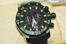 Invicta Sea Base Chronograph 53mm Swiss Made Black Green Titanium Watch