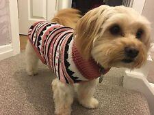 Ancol Alpine Pink Knit Sweater Small 30cm