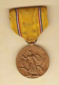 Philippines World War II WW 2 Medal American Defense complete W/ Ribbon medal