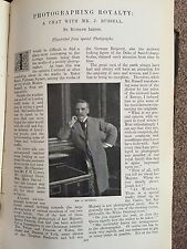Photography Royalty Queen J Russell Rare Old Victorian Photo Article 1896 Camera