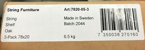 String - 3 Regalböden 78x20 oak