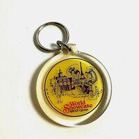 1982 Disney Epcot Center World Showcase Plastic Collectible Souvenir Keychain
