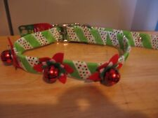 NEW HOLIDAY DOG COLLAR WITH FLOWERS AND BY TOP PAW Sz L neck size 18 - 24 inches