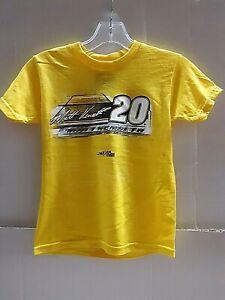 Matt Kenseth # 20 Nascar Yellow Youth T-shirt, size XL