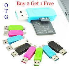 OTG Card Reader USB 2.0 Micro USB SD+Micro SD/T-Flash For Mobile and computer
