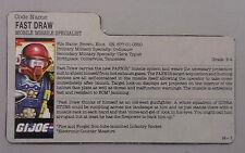 G.I. Joe/Cobra_1987 V1 Fast Draw FILE CARD!!!