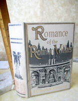 ROMANCE Of THE ROMAN VILLAS,1908,Elizabeth W. Champney,1st Ed,Illust