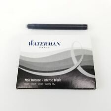 Waterman Intense Black Fountain Pen Long Ink Cartridge (S0712991)