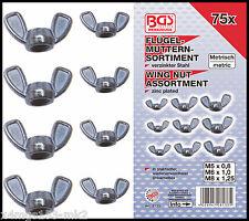 BGS - Wing Nut Assortment - M5, M6, M8 - 75 Pc Set - 8133