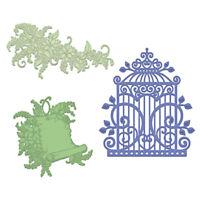 Heartfelt Creations Sweet Lilac Scroll & Cage Die