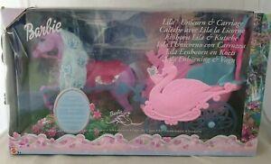 """Barbie in Schwanensee Kutsche mit Einhorn-Pferd """"Lila"""" Mattel B2662 / Neu & Ovp"""