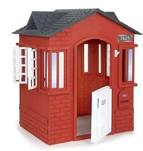 Little Tikes Cape Cottage House, Red with Working Doors, Working Window Shutters