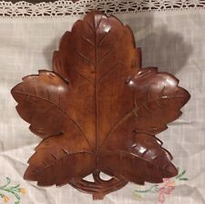"Vintage Gueissaz # 1241 Lara"" Some where my Love"" Wood Leaf Music tray dish"