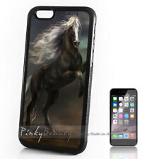 ( For iPhone 4 / 4S ) Back Case Cover P30070 Black Horse