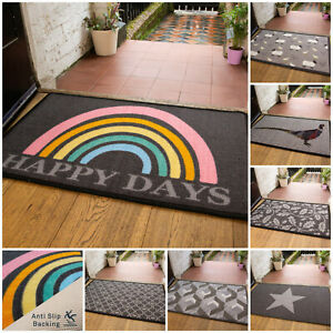 Machine Washable Non Slip Doormats Water Absorbent Dryable Novely Kitchen Mats