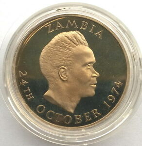 Zambia 1974 Independence Kwacha Coin,Proof