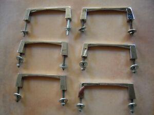 Lot poignées vintage ancien métal verni noir or tiroir meuble design 60/'s