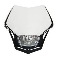 MASCHERINA PORTAFARO RACETECH V-FACE BIANCA (White Headlight) - R-MASKBNNR008